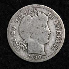 1908-O Silver Barber Dime Good Free Shipping