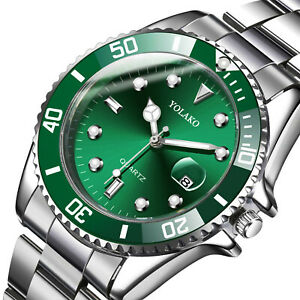 Classic Luxury Mens Stainless Steel Watch Casual Analog Date Quartz Wristwatches