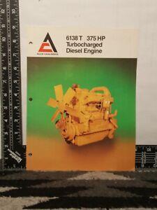 Allis Chalmers 6138 E 375 HP Turbocharged Diesel Engine Brochure