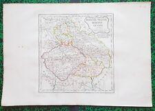 XVIII ème - Bohême Silésie Moravie Lusace - Carte par Delamarche 45x31 de 1795