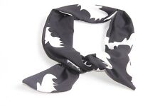 Great Women Halloween Accessory Black Wired Headband w White Bats Pattern(S312)