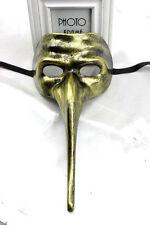 Da Uomo Lungo Naso VENEZIANO Masquerade Maschera Martedì Grasso BRUNITA ORO FANCY DRESS