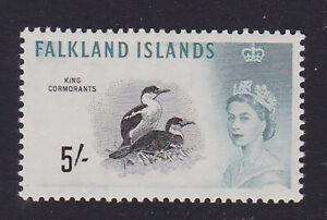 Falkland Islands. 1960. SG 205, 5/- black & turquoise. Unmounted mint.
