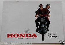 Original HONDA CB 450 SUPERSPORT 444 CC 2 CILINDRO DA COLLEZIONE Oldtimer Moto