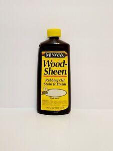 Minwax Wood Sheen Rubbing Oil Stain Finish Dove White Yellow Top