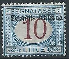 1909 SOMALIA SEGNATASSE 10 LIRE MNH ** - K76