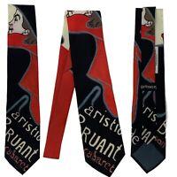 Ralph Marlin Toulouse Lautrec Art Nouveau Posters Mens Black Novelty Neck Tie