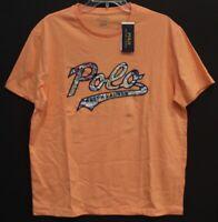 Polo Ralph Lauren Mens Coral Orange Polo Logo Cotton Crewneck T-Shirt NWT Size L