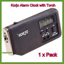 Korjo Travel Alarm Clock With Torch ACT22