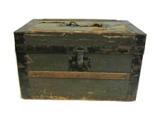 Scarce Antique 1800s Stagecoach Small Steamer Wooden Trunk Chest 20 X 12 X 12