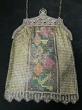 Vintage Whiting and Davis Mesh Purse Multi-Color Chain Strap