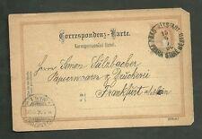 Used Postcard May 15 1896 Sent From Prague to Frankfurt Germany Austria Empire