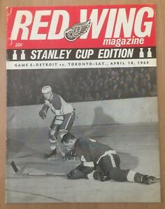 1964 NHL STANLEY CUP FINALS PROGRAM TORONTO MAPLE LEAFS @ DETROIT RED WINGS
