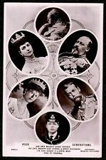 1910 FOUR GENERATIONS QUEEN VICTORIA & OTHERS MULTI VIEW REAL PHOTO POSTCARD