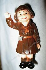Tiny Girl Guide Pin Figurine, International Scout Doll Brooch Darling Expression