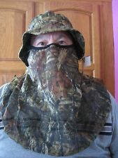 Mossy Oak Camo Boonie Hat Cap Face Net Mask Mesh Netting Turkey Hunting Archery