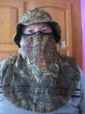 Mossy Oak Camo Boonie Hat Cap Face Net Mask Mesh Netting Turkey Hunting Archery