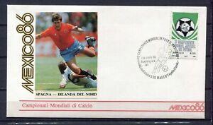 S13569) Mexico 8.6.1986 FDC Fifa Wc Football Uruguay Denmark