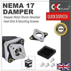 Nema 17 Stepper Motor Shock Absorber Anti Vibration Damper Mount + Heat Sink