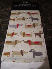 Ulster Weavers Cotton Tea Kitchen Dish Towels Sausage Dachshund Dog - NEW
