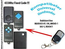 433 Mhz Remote Control compatible to Garage door MAHS433 MHS43 S43 HS43