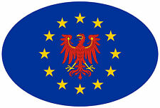 Premium pegatinas Europa con Brandeburgo oval motocicleta car Sticker Adhesivo