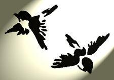 Shabby Chic Stencil 2 RONDINE su foglio RUSTICO a4 297x210mm Muro uccellini VINTAGE