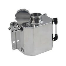 1L Universal Aluminum Coolant Radiator Overflow Recovery Water Tank Polished AU