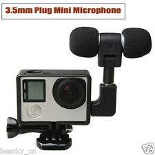 New 3.5mm Plug Mini Stereo Microphone with Standard Frame for Gopro Hero 3/3+/4
