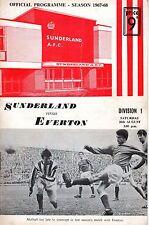 1967 (Aug.26) Soccer program, Division I, Sunderland vs. Everton ~ Wembley