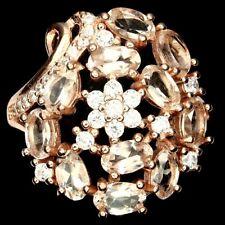 Ring Morganit & CZ 925 Silber rosévergoldet Gr. 57