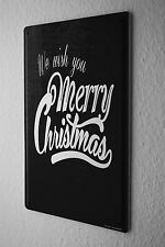 Tin Sign Christmas Merry Christmas