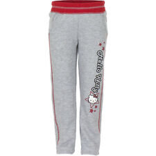 NUEVO Niñas Pantalones Deportivos Pantalón Chándal Hello Kitty Gris Azul 98 104