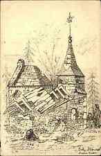 Feldpost-AK Militär Zeichn. Goyencourt Roye Erstürmung 1914 Kunst Meinert Kastel