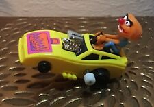 Vintage Sesame Street Muppet Animal Wind Up Yellow Car Toy 1983