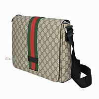 NWT Authentic Gucci 475432 GG Supreme Web Messenger Bag