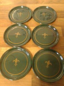 Vintage Clover Leaf Set Of 6 Coasters Green melamine