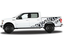 Vinyl Decal Wrap TIRE TRACKS for Ford F-150 15-17 SuperCrew 5.5 Bed Truck BLACK