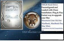 "OS X Mountain Lion 10.8, 2.5"" Hard Drive 500GB.Macbook Pro,Macbook, Mac Mini."
