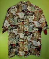 🐟 BLUEWATER WEAR Fishing Theme SHIRT 🎣 Size XL VGUC ⛵ Boat Swordfish Lures USA