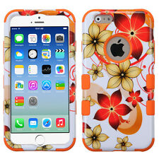 For iPhone 4 5S 6S 7 Plus Shockproof Rugged Hybrid Rubber Protective Hard Case