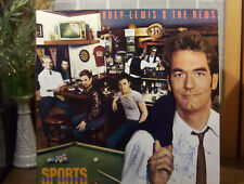 "HUEY LEWIS & THE NEWS LP""Sports"" on CHRYSALIS ""Autographed"" by Huey Lewis NM-"