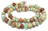 😏 Schlangenhaut Jaspis Perlen rundliche Nuggets ca. 8-12 mm Edelstein Strang 😉