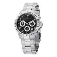 Stuhrling 665B 01 Concorso Quartz Chronograph Stainless Steel Silver Mens Watch