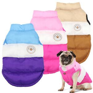 Winter Warm Pet Dog Jacket Vest Clothes Puppy Cat Coat Costumes French Bulldog