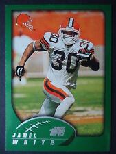 NFL 256 Jamel White Cleveland Browns Topps 2002