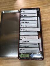 Dry Erase Reminder Magnets - Retro Fridge Tin Holder
