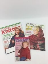 Knitting & Crochet Patterns & Directions Assorted Magazines Many Ideas