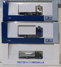 6 Rietze Lieferwagen Lastwagen Ford Transit Caddy Iveco Eurocargo, 1:87, Los 162