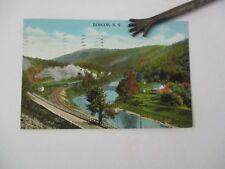ROSCOE, NY Vintage Postcard, Sullivan County